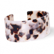 Ready-made Bracelets resin Off White-Brown