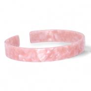 Ready-made Bracelets resin loose fit Rose Pink