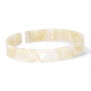 Ready-made Bracelets resin loose fit Cream Beige