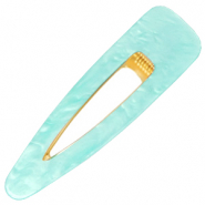 Hair accessories hair clip resin XL Turquoise-Gold