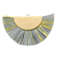Tassels charm Gold-Grey