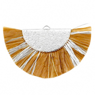 Tassels charm Silver-Golden Brown