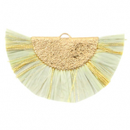 Tassels charm Gold-Light Moss Green