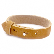 Cuoio bracelets nubuck leather 15 mm for 20 mm cabochon Camel Brown