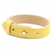Cuoio bracelets nubuck leather 15 mm for 20 mm cabochon Mineral Yellow