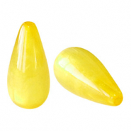 Polaris Elements drop shaped beads pearl shine Empire Yellow