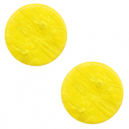 12 mm flat Polaris Elements cabochon Lively Empire Yellow
