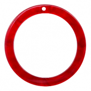 Resin pendants round 35mm Cherry Red