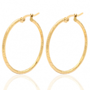 Stainless steel earrings creole 35mm Gold