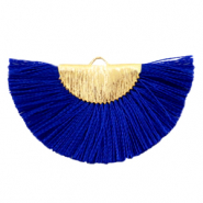 Tassels charm Gold-Princess Blue