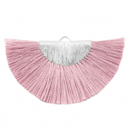 Tassels charm Silver-Mauvewood Rose