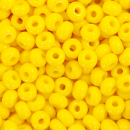 Preciosa glass seed beads 6/0-83130 Natural Opaque-Empire Yellow