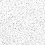 Preciosa glass seed beads 11/0-03050 Natural Opaque-White