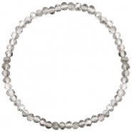 Top faceted bracelets 4x3mm Greige Crystal-Pearl Shine Coating
