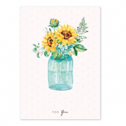 Jewellery cards 'for you' Yellow-Blue