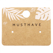 Jewellery cards 'musthave' Leaves Brown