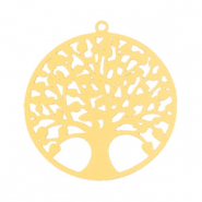 Bohemian charms tree of life 25mm Gold (nickel free)