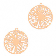 Bohemian charms wish flower Rose Gold (nickel free)