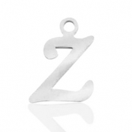 Stainless steel charms initial Z Silver