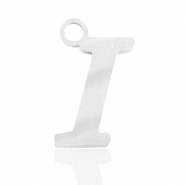 Stainless steel charms initial I Silver