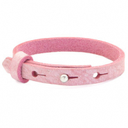 Leather Cuoio kids bracelet 8mm for 12mm cabochon Pressed Rose