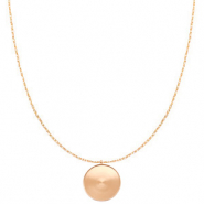 Polaris Steel necklace with setting for 20mm cabochon Rose Gold