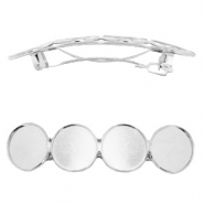 Settings hairpin metal for 4 cabochons 20 mm Antique Silver