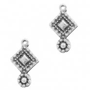 DQ European metal charms boho Antique Silver (nickel free)