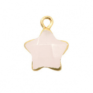 Natural stone charms star Icy Pink-Gold