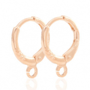 Findings TQ metal earrings closable 1 loop 11mm Light Rose Gold