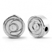 Hematite beads rose 6mm Silver Grey