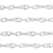 Stainless Steel findings weave belcher chain 2.6mm Silver