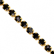 Rhinestone chain Black-Gold