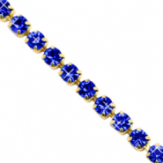 Rhinestone chain Cobalt Blue-Gold