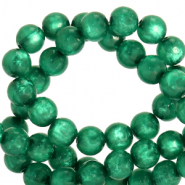 Polaris beads round 10 mm pearl shine Agate Green