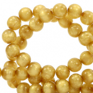 Polaris beads round 6 mm pearl shine Curry Yellow