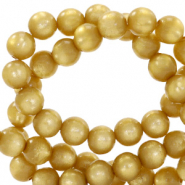Super Polaris beads round 6 mm Curry Yellow
