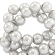Top quality Glass pearls 8 mm Grey