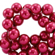 Top quality Glass pearls 8 mm Ruby Wine Red