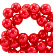 Top quality Glass pearls 6 mm Cherry Red