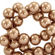 Top quality Glass pearls 6 mm Copper Brown