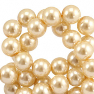 Top quality Glass pearls 6 mm Rich Gold