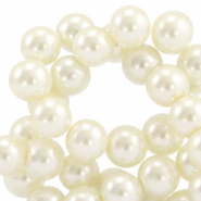 Top quality Glass pearls 8 mm Off White