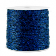 Macramé bead cord metallic 0.5mm Dark Blue