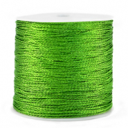 Macramé bead cord metallic 0.5mm Green