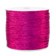 Macramé bead cord metallic 0.5mm Raspberry Rose Purple