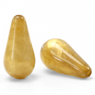 Polaris Elements drop shaped beads Mosso shiny Curry Yellow