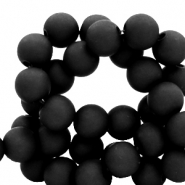 8 mm acrylic beads matt Black