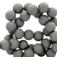 8 mm acrylic beads matt Quiet Shade Grey