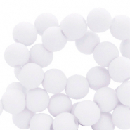 8 mm acrylic beads matt Ice Grey